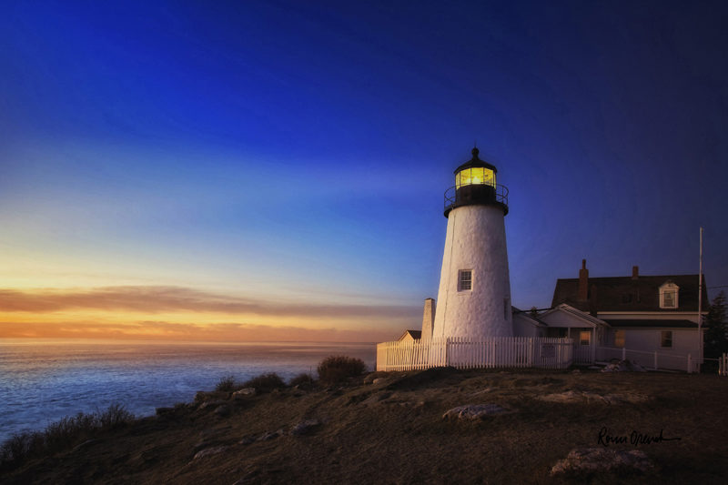 "Ronn Orenstein's ""Lighthouse Glow."""