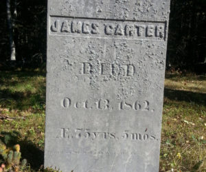 One of the oldest stones in the Northern End cemetery on Louds Island.