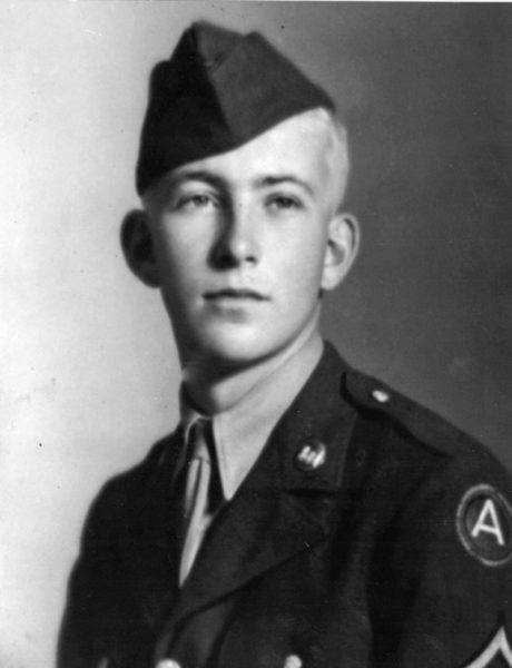 A 19-year-old George D. Whitten in 1943, the year he was drafted into the U.S. Army. (Photo courtesy George Whitten)