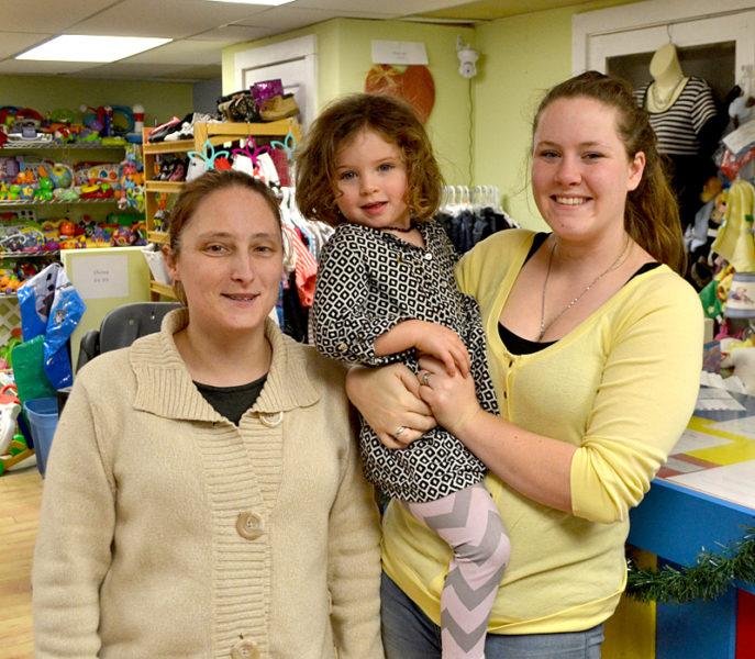 From Left: Karie Manning, Annabelle Waltz, And Liz Waltz Stand In The Kidz