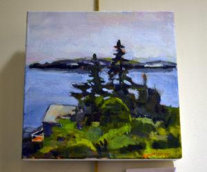 """Island View,"" an acrylic painting by Nancy O'Brien MacKinnon. (Christine LaPado-Breglia photo)"
