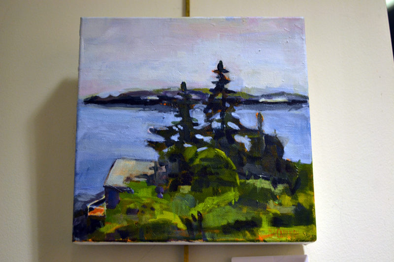 """Island View,"" an acrylic painting by Nancy O'Brien MacKinnon. (Christine LaPado-Breglia photo)"