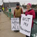 Area Residents Hold Anti-Trump Demonstration