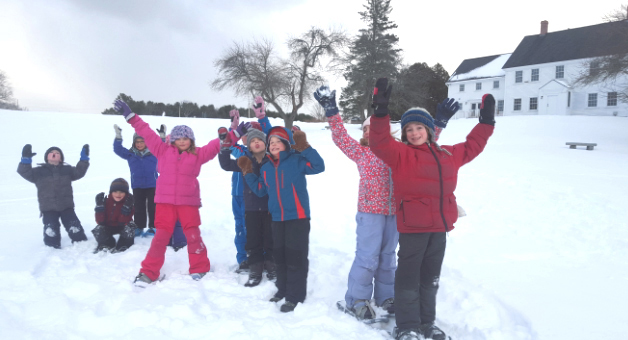 DRA winter-camp participants enjoy the snow in February.