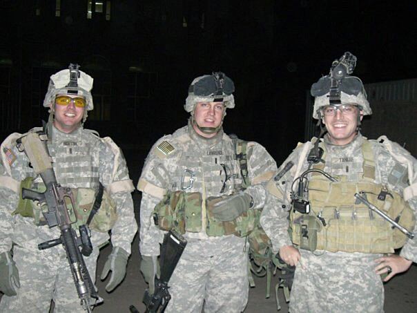 Jack Norton (left) in Iraq around 2005-2006. Norton did two tours in Iraq, in 2005-2006 and 2007-2008. (Photo courtesy Jack Norton)
