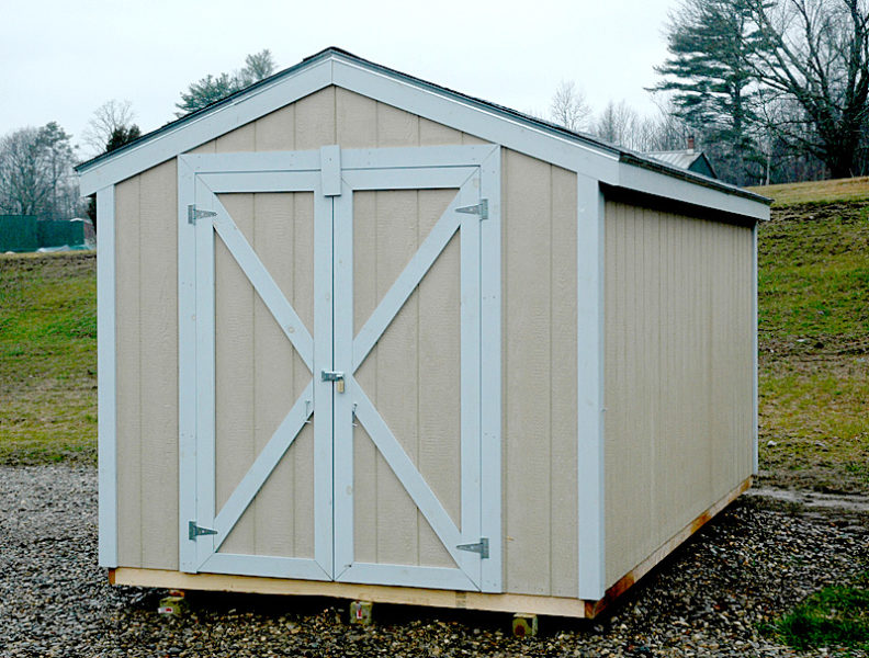 A shed behind the Waldoboro municipal building will hold donations to the Neighbor to Neighbor Free Clothes Project. (Alexander Violo photo)