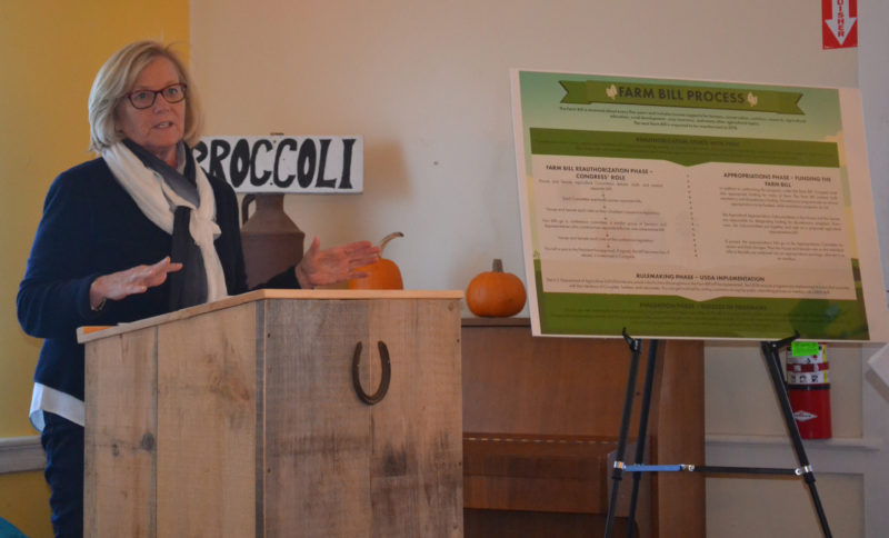 U.S. Rep. Chellie Pingree hosts a forum on the upcoming reauthorization of the Farm Bill at The Morris Farm in Wiscasset on Friday, Nov. 18. (Abigail Adams photo)