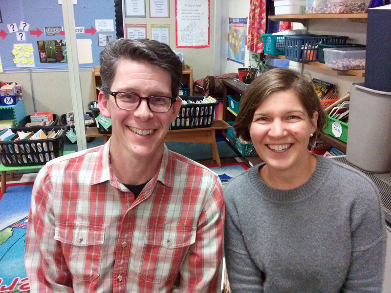 Great Salt Bay Community School PTO's new co-presidents, Douglas Straus and Liza Fleming-Ives.