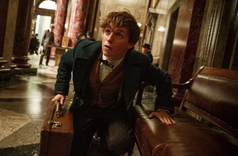 """Eddie Redmayne stars in the new Harry Potter spin-off by J. K. Rowling, """"Fantastic Beasts and Where to Find Them,"""" now playing at The Harbor Theatre, Boothbay Harbor."""
