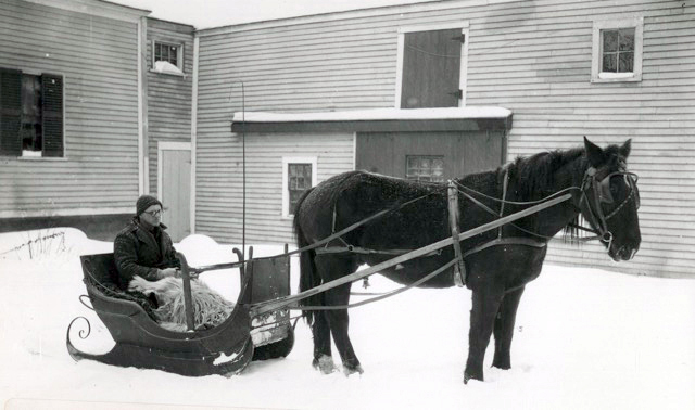 This would be a lovely way to come to the Newcastle Historical Society meeting on Dec. 7. The photo shows a Newcastle resident of earlier times.