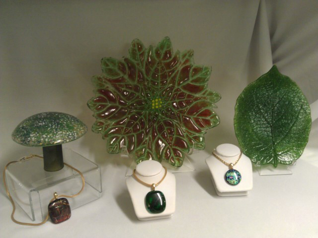 Marie Bickford's fine-art glassware and jewelry.