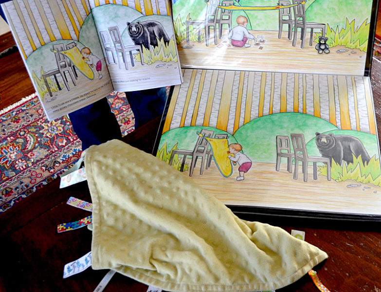 "A yellow blanket belonging to Kate Kastelein's son was part of the inspiration for Kastelein's book ""Blankie's Diary."" Crystal McLain illustrated the book. (Maia Zewert photo)"