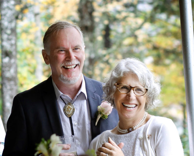 David and Jane Pierce on their wedding day, Oct. 22. The couple was introduced on Dec. 1, 2011 by Stephanie Russell, of Damariscotta, the founder of Single Hearts In Maine. (Photo courtesy Jane Pierce)