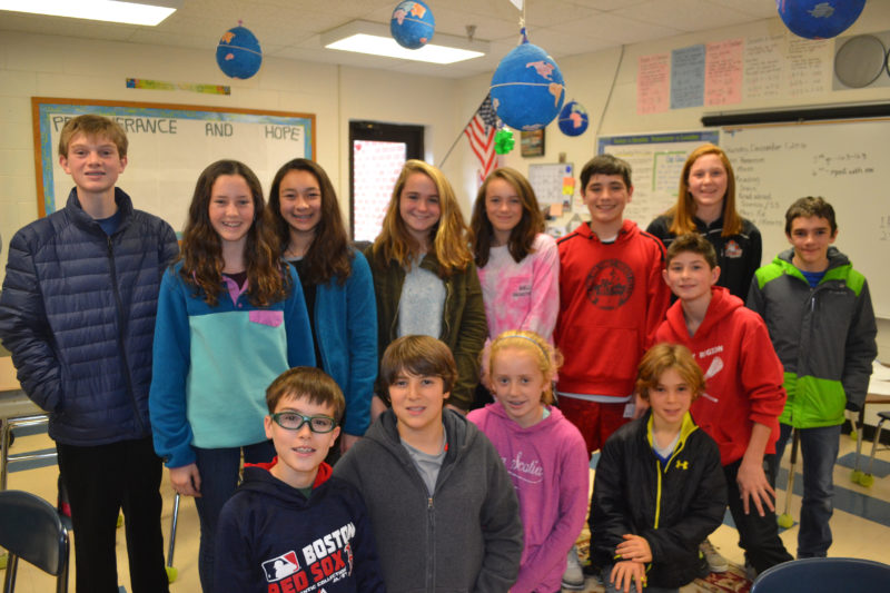 The Great Salt Bay Community School Student Council recently held a toilet paper drive that brought in more than 600 rolls for One Less Worry, a Rockland-based nonprofit that provides feminine hygiene products and toilet paper to residents in need. (Maia Zewert photo)