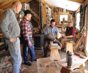 Join the DRA this winter for a program like the woodworking workshop series taught by Kenneth Kortemeier of the Maine Coast Craft School, shown here working with students.