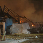 Building Destroyed, Two Injured in Jefferson Fire