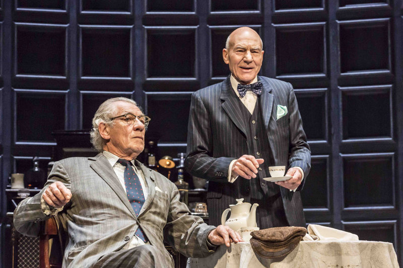 "Ian McKellen and Patrick Stewart in ""No Man's Land."" (Photo courtesy Johan Persson)"