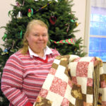 Linda Adams is Beta Rho Quilt Winner