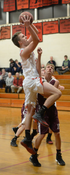After a sleepy start, Ethan James scored 34 of his game high 26 points in the second half. (Paula Roberts photo)