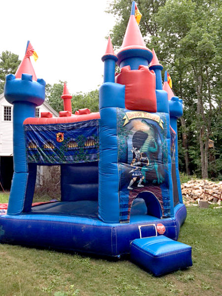 """The """"Brave Knight"""" is one of the inflatable bounce houses available for rent from Sandcastle Entertainment. (Photo courtesy Jen York)"""