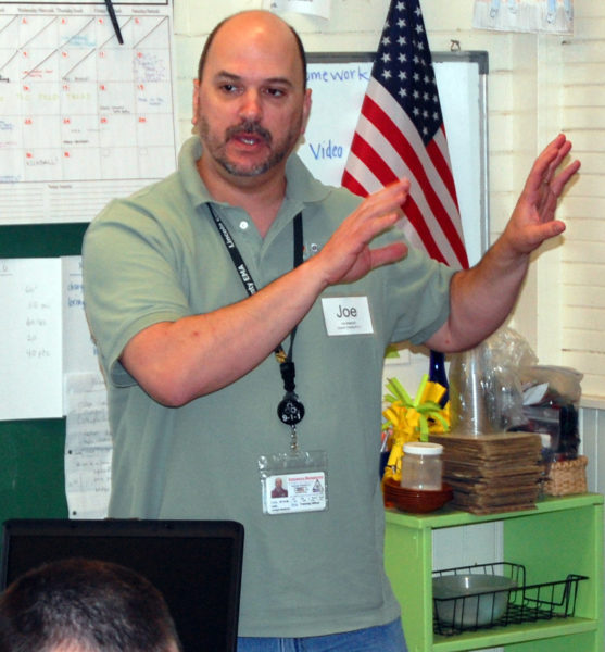 Joe Westrich speaks during a drill at the Monhegan School on May 19, 2012. Westrich has been named Lincoln County's interim communications director. (J.W. Oliver photo, LCN file)