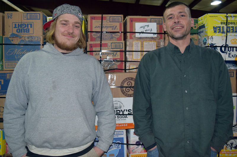 Dylan Herald (left) and Joshua Bonenfant are the new owners of Bonus Redemption, with locations in Damariscotta, Newcastle, and Waldoboro. (J.W. Oliver photo)