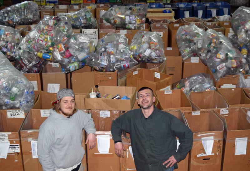 Dylan Herald (left) and Joshua Bonenfant at Bonus Redemption in Newcastle on Wednesday, Jan. 25. (J.W. Oliver photo)