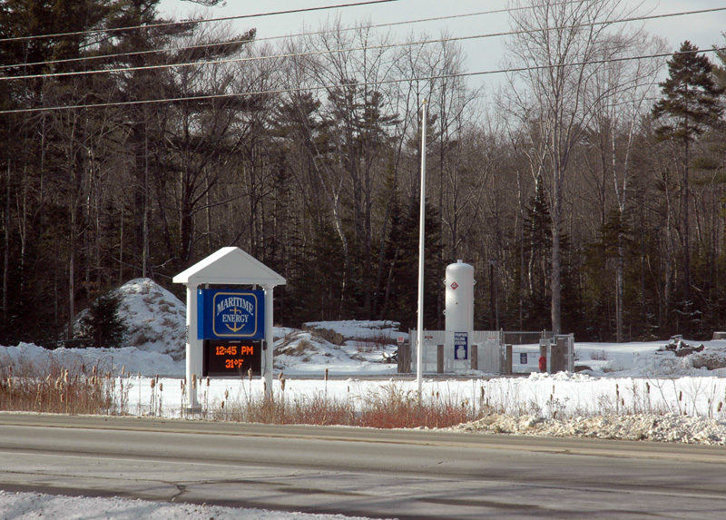 The Nobleboro Appeals Board has unanimously denied an appeal of the Nobleboro Planning Board's approval of an application to install a 30,000-gallon propane tank at the company's facilitiy at the corner of Route 1 and Vannah Road. (Alexander Violo photo)
