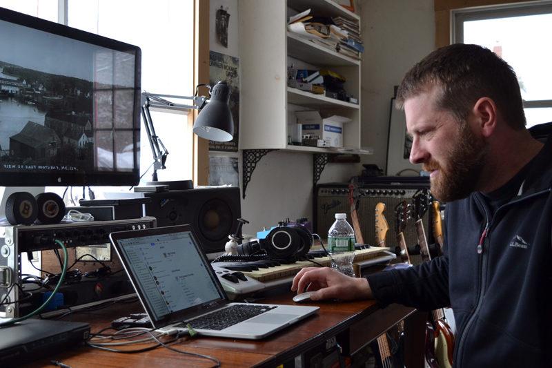 Sumner McKane at work in his studio. (Christine LaPado-Breglia photo)