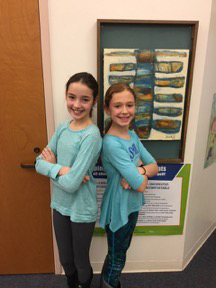 Congratulations to Edgecomb Eddy sixth-graders Madison Phelps (left) and Brynna Nelson, who traveled to Atlanta recently to participate in the 2017 iTheatrics Junior Theater Festival.