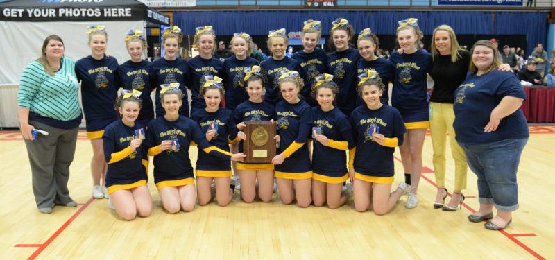 Medomak Valley cheerleaders won theirn seventh straight Regional Championship on Jan. 28 at the Augusta Civic Center. (Paula Roberts photo)
