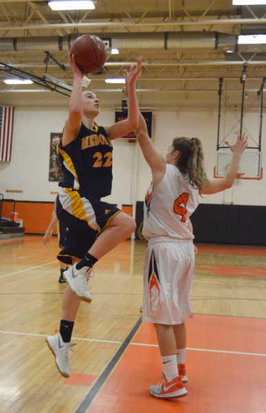 Sadie Cohen drives to the hoop in the Lady Panthers win over Gardiner. (Carrie Reynolds photo)