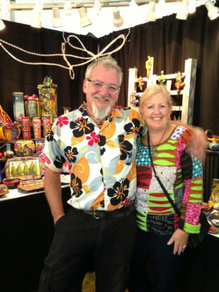 Sue and Roger Bisaillon of Blue Moon Clay Carvers