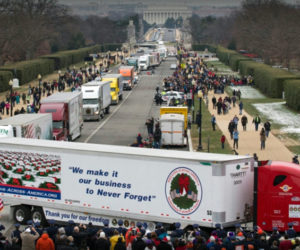 Wreaths arrive in Washington, D.C. for ceremonies at Arlington National Cemetery on Dec. 17, 2016.