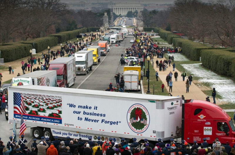 Wreaths arrive in Washington, D.C. for ceremonies at Arlington National Cemetery on Dec. 17, 2016.