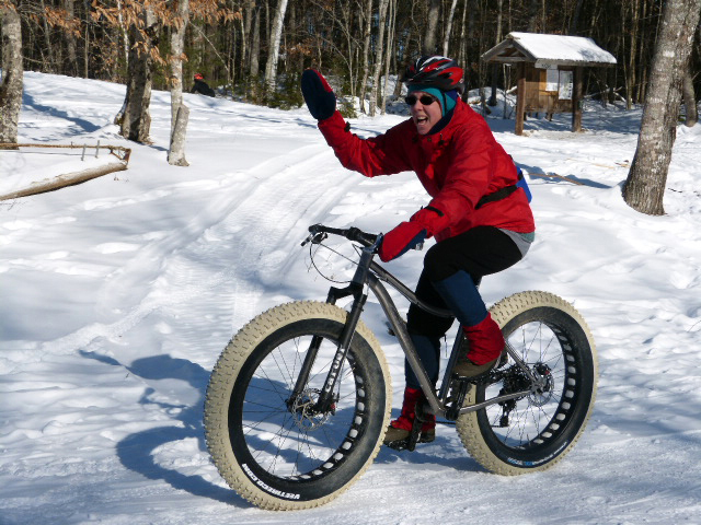 Sharon Miller enjoys fat-tire biking.