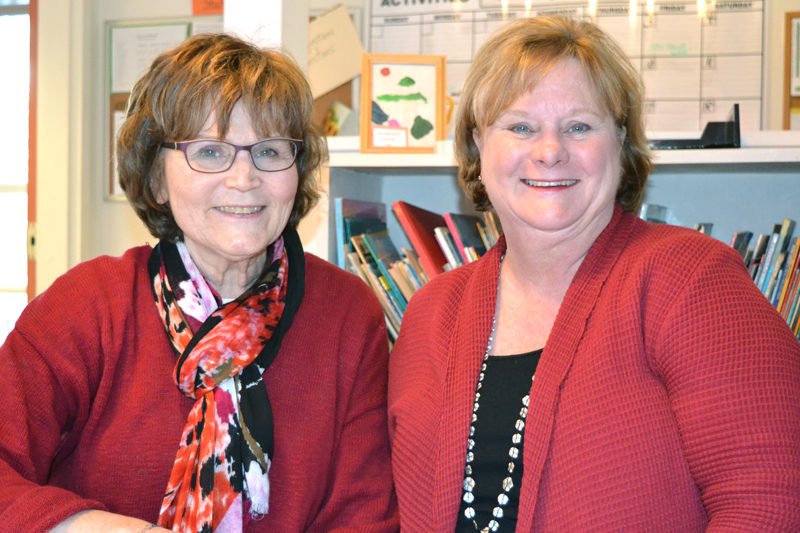 Coastal Kids Preschool Education Director Priscilla Congdon (left) and Executive Director Mimi Reeves celebrate the preschool's recent accreditation from the National Association for the Education of Young Children. (Christine LaPado-Breglia photo)