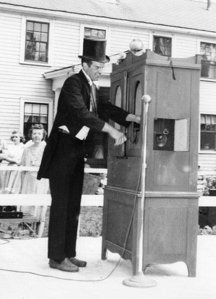A 31-year-old Huston Dodge participates in Damariscotta's centennial celebration in 1948. (Photo courtesy Calvin Dodge)