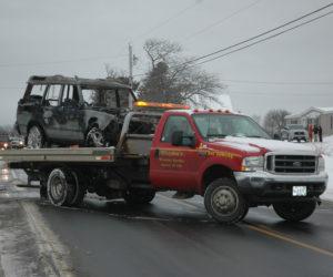 Fire Destroys Land Rover, Occupants Safe