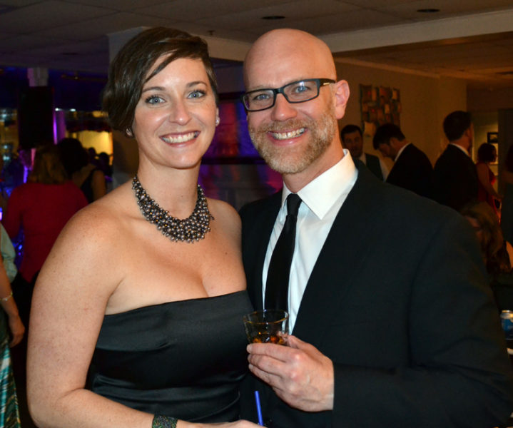 Lacey Fuller and Matt Page, of Split Rock Distilling, were among the young professionals attending Lincoln County Spark's Snowball gala. (Abigail Adams photo)