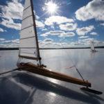 Ice Boaters Race Across Damariscotta Lake