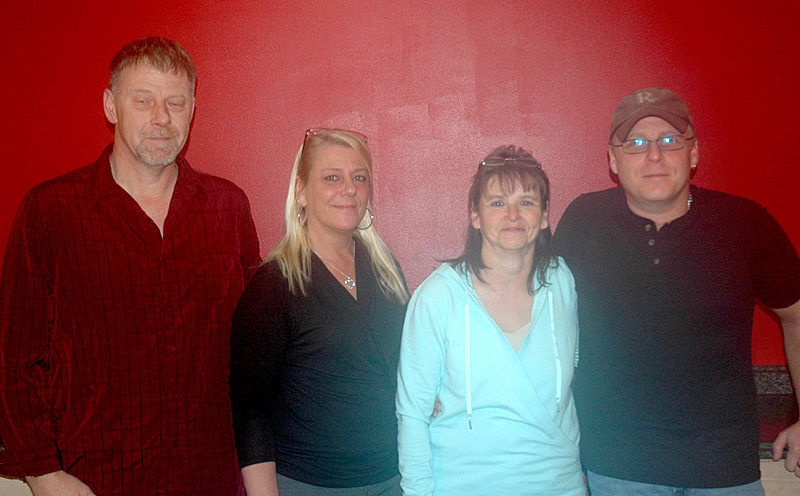 The business partners behind the transition from Waldoboro House of Pizza to Bella Gia's. From left: John Howlett, Dawn O'Brien, Susan Johnson-Moody, and Jeremy Miller. (Alexander Violo photo)