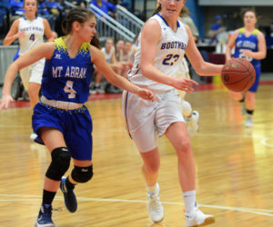 """<span class=""""entry-title-primary"""">Boothbay girls crush Roadrunners</span> <span class=""""entry-subtitle"""">Boothbay 60 - Mt. Abram 21</span>"""