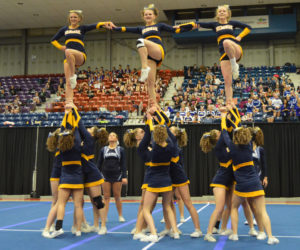 """<span class=""""entry-title-primary"""">Medomak cheerleaders third in State B</span> <span class=""""entry-subtitle"""">Sat. Feb. 11 at Augusta Civic Center</span>"""
