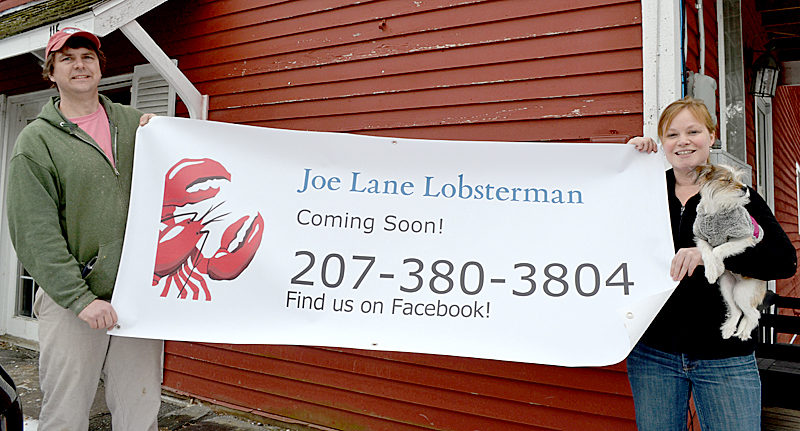 Joe Lane and Izzy Nelson plan to reopen Lane's lobster eatery in a new, permanent location at 115 Elm St. in Damariscotta, the former home of the Skidompha Secondhand Book Shop. (Maia Zewert photo)
