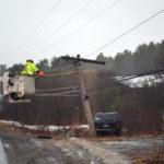 Jeep Snaps Utility Pole in Edgecomb Crash