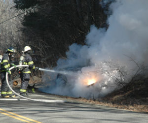 Car Crashes, Catches Fire in Jefferson