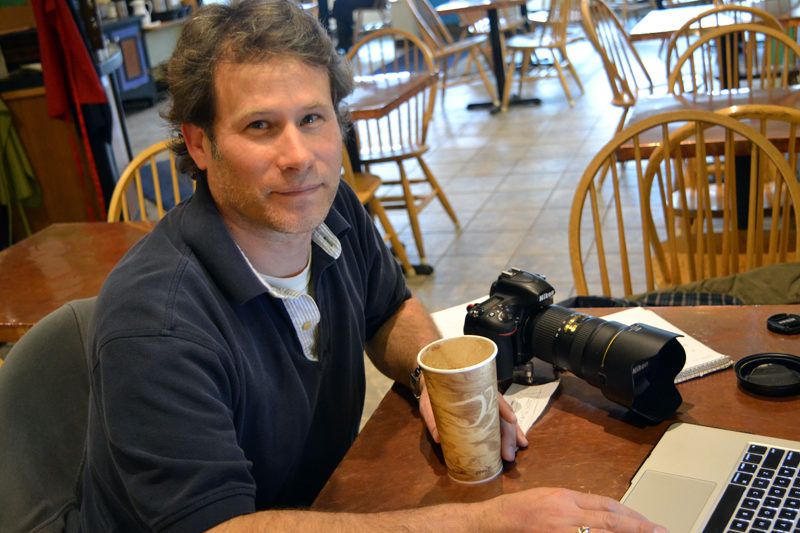 Michael Sevon is a photographer, a drummer in two local bands, and a janitor at Great Salt Bay Community School in Damariscotta. (Christine LaPado-Breglia photo)