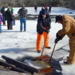 First March Ice Harvest Draws Crowd
