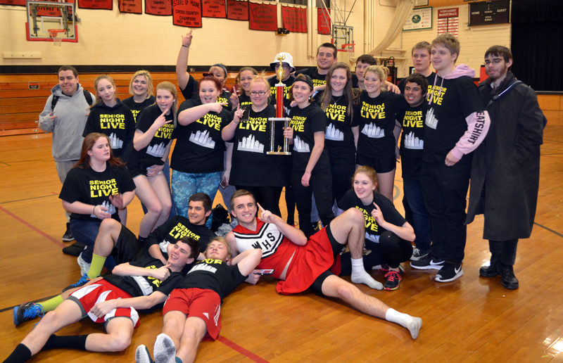 The Wiscasset Middle High School Class of 2017 claimed the winter carnival trophy Friday, March 3. (Abigail Adams photo)